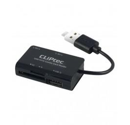 Cliptec COMBO USB + Micro OTG Card Reader (RZR525)