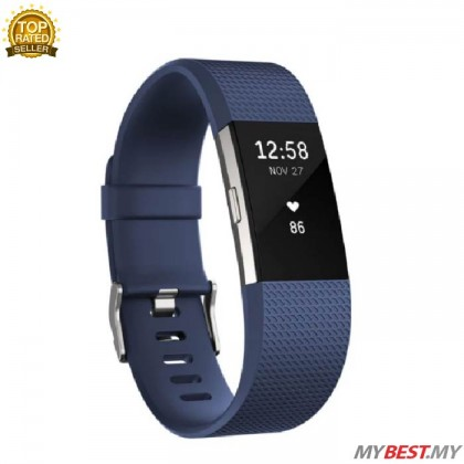 """Fitbit Charge 2 Heart Rate + Fitness Wristband Small 5.5"""" - 6.7""""  (Blue)"""