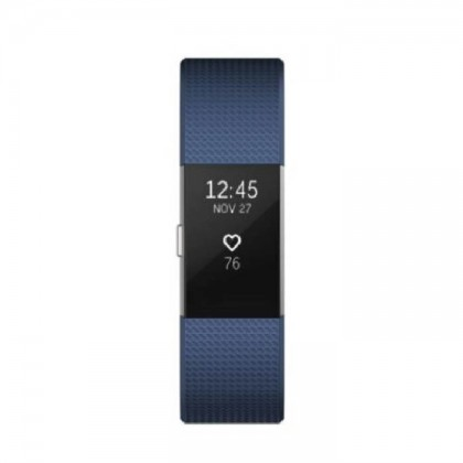 "Fitbit Charge 2 Heart Rate + Fitness Wristband Small 5.5"" - 6.7""  (Blue)"