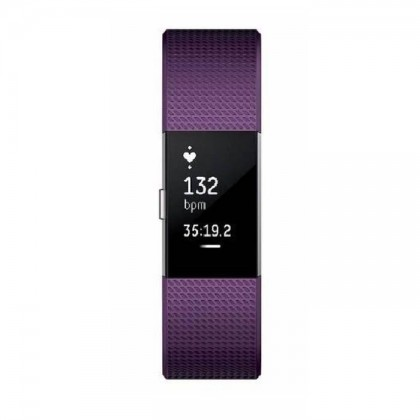 """Fitbit Charge 2 Heart Rate + Fitness Wristband Small 5.5"""" - 6.7""""  (Plum)"""