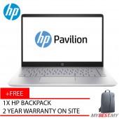 "HP Pavilion 14-Bf102TX 14"" FHD Laptop Gold (I5-8250U, 4GB, 1TB, 940MX 2GB, W10)"