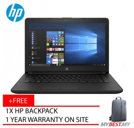 "HP 14-Bs537TU 14"" Laptop Black (N3060, 4GB, 500GB, Intel, W10H)"