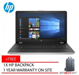 "HP 14-Bs538TU 14"" Laptop Silver (N3060, 4GB, 500GB, Intel, W10H)"