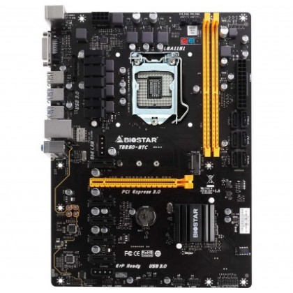 Biostar TB250-BTC PRO VER.6.X LGA1151 Socket 6 PCI-E Slot ATX Form Factor Motherboard (Mining Board)