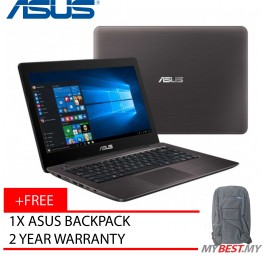 "Asus A-Series A456U-RFA131T 14"" FHD Laptop Brown (I5-7200, 4GB, 1TB, GT930MX 2GB, W10H)"