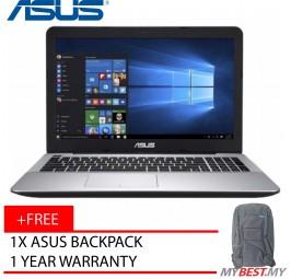 """Asus X-Series X555B-PXO098T 15.6"""" Laptop Black (A9-9420, 4GB, 128GB SSD + 500GB, R5 M420 2GB, W10)"""