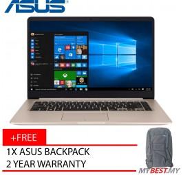 """Asus Vivobook S15 S510U-QBQ622T 15.6"""" FHD Laptop Gold (I5-8250u, 4GB, 1TB+128GB, GT940MX 2GB, W10H )"""