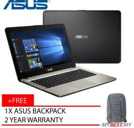 """Asus VivoBook X441U-RGA005T 14"""" Laptop Black (I5-7200U, 4GB, 1TB, GT930MX 2GB, W10H)"""