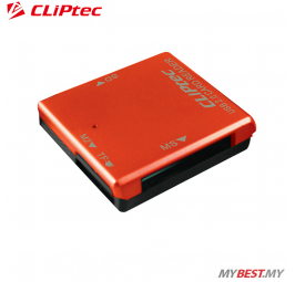 CLiPtec BASIC-4 USB 2.0 Card Reader RZR507 (Orange)
