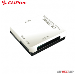 CLiPtec BASIC-4 USB 2.0 Card Reader RZR507 (White)