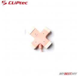 CLiPtec X-CROSS USB 2.0 4 Ports Hub RZH201 (Pink)