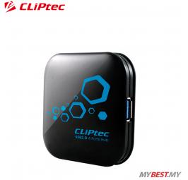 CLiPtec THUNDER USB 3.0 4 Ports Hub RZH313 (Black)