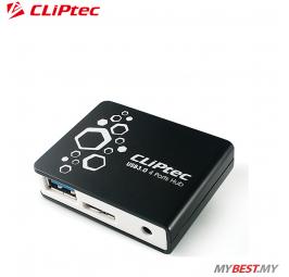 CLiPtec VELOCITY USB 3.0 4 Ports Hub RZH323 (Black)