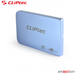 "CLiPtec 2.5"" USB 2.0 SATA HDD Enclosure RZE270 (Blue)"