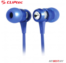 CLiPtec HALLO In-Ear Earphone with Microphone BME747 (Blue)