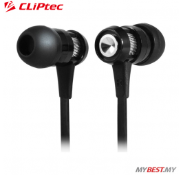 CLiPtec HALLO In-Ear Earphone with Microphone BME747 (Black)