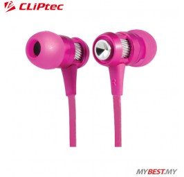 CLiPtec HALLO In-Ear Earphone with Microphone BME747 (Pink)