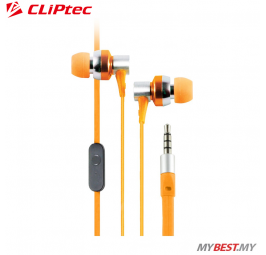 CLiPtec G-HALLO In-Ear Earphone with Microphone BME757 (Orange)