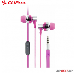 CLiPtec G-HALLO In-Ear Earphone with Microphone BME757 (Pink)