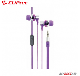CLiPtec G-HALLO In-Ear Earphone with Microphone BME757 (Purple)