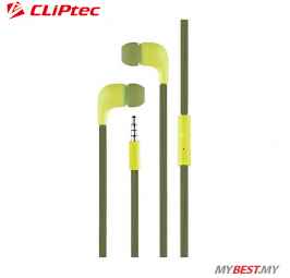 CLiPtec LACE In-Ear Earphone with Microphone BME767 (Green)