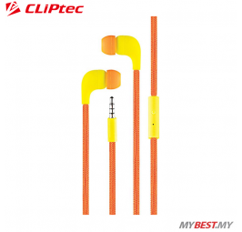 CLiPtec LACE In-Ear Earphone with Microphone BME767 (Orange)