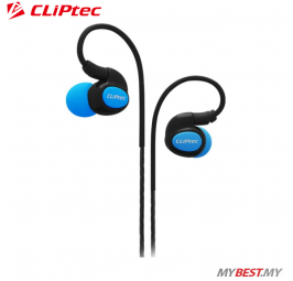 CLiPtec XTION-PACE Sports Ear Hook Earphone with Microphone BSE201 (Blue)