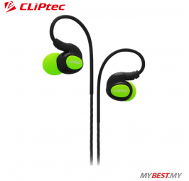 CLiPtec XTION-PACE Sports Ear Hook Earphone with Microphone BSE201 (Green)