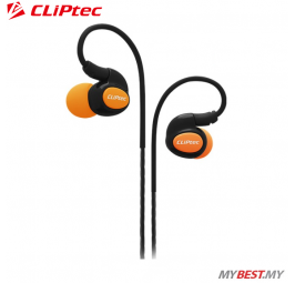CLiPtec XTION-PACE Sports Ear Hook Earphone with Microphone BSE201 (Orange)