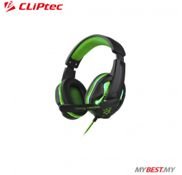CLiPtec STEGOUS S1 LED Illuminated Stereo Gaming Headset BGH661 (Green)