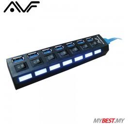 AVF AUH3-03 SuperSpeed USB Hub 7 USB 3.0 Ports