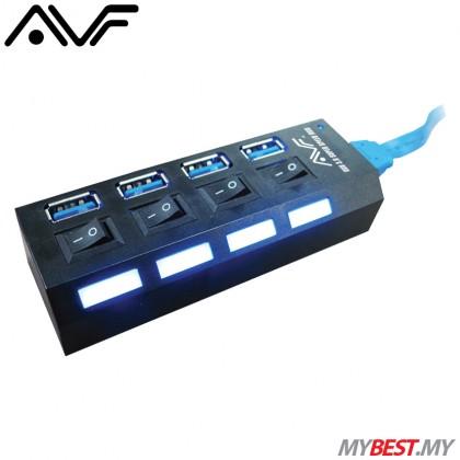 AVF AUH3-04 SuperSpeed USB Hub 4 USB 3.0 Ports