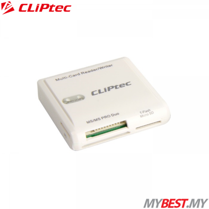 CLiPtec 6 SLOTS USB2.0 Card Reader RZR502 (White)