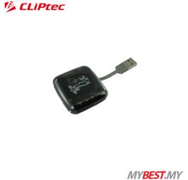 CLiPtec 7 SLOTS USB2.0 Card Reader RZR623 (Black)