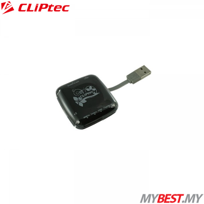 CLiPtec 7 SLOTS USB2.0 Card Reader RZR623 (Black)