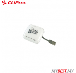 CLiPtec 7 SLOTS USB2.0 Card Reader RZR623 (White)