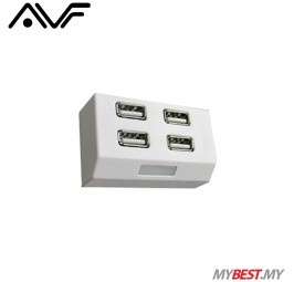 AVF AUH928 High-Speed USB 2.0 HUB (White)