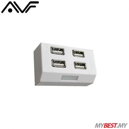 AVF AUH928 High-Speed USB 2.0 HUB (White)