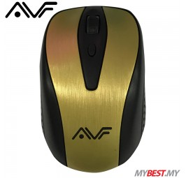 AVF GEOM1 AM-2G 2.4G Wireless Mouse (Gold)