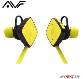 AVF HBT35 Wireless Earphone with Bluetooth Function (Yellow)