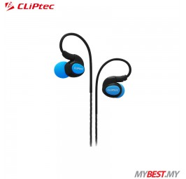 CLiPtec BSE201 XTION-PACE Sports Ear Hook Earphone with Microphone (Blue)
