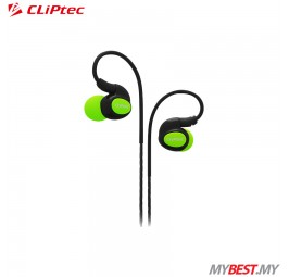 CLiPtec BSE201 XTION-PACE Sports Ear Hook Earphone with Microphone (Green)