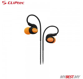 CLiPtec BSE201 XTION-PACE Sports Ear Hook Earphone with Microphone (Orange)