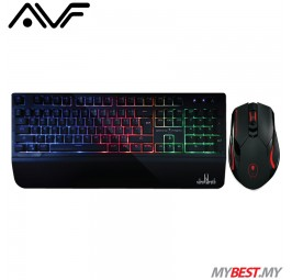 AVF GK-XC4S RGB Plunger Gaming Keyboard and Gaming Mouse Combo