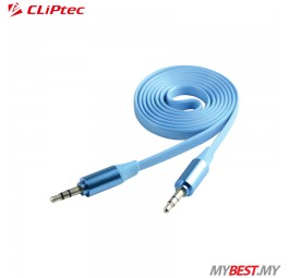 CLiPtec METALLIC OCC232 Slim Flat Stereo Audio Cable