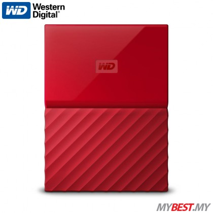 WD My Passport Portable Hard Drive 1TB (Red)
