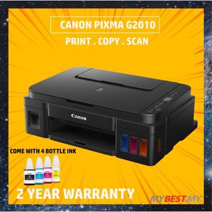 Canon PIXMA G2010 Refillable Ink Tank All-In-One Printer *FREE CANON PHOTO PAPER GP-508 4R 20PCS