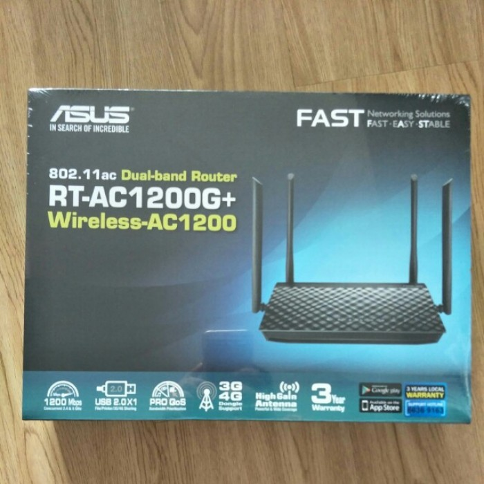 ASUS RT-AC1200G+ DUAL BAND WIRELESS ROUTER