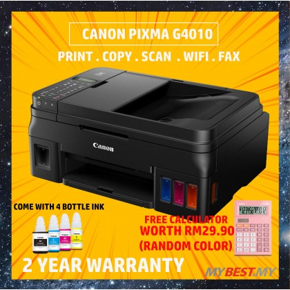 Canon PIXMA G4010 Refillable Ink Tank Wireless All-In-One Printer