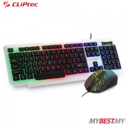 CLiPtec RZK260 METEOR-NEO USB LED Illuminated Keyboard Combo Set